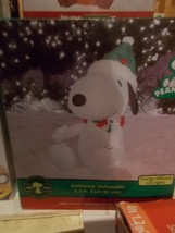 Peanuts Snoopy with with Santa hat Airblown Inflatable 3.5 ft. - $39.99