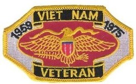 ARMY VIETNAM VETERAN MILITARY WAR PATCH 1969-1975 - $13.53