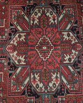 Normal Wear Semi-Antique Persian Handmade 9x12 Burgundy Heriz Wool Rug image 11