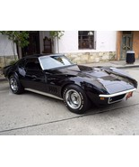 1969 Corvette Stingray 427 black 24X36 inch poster, sports car, muscle car - $18.99