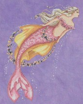 """AKOYA PEARL MERMAID"" COMPLETE  MATERIALS with 16 count aida - $59.39"
