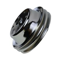 Crankshaft Pulley Double-Groove LWP Long Water Pump For Chevy SBC 262 307 400 image 9