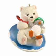 QX8061 Snowball and Tuxedo 12th Downhill Thrills 2012 Hallmark Keepsake Ornament - $19.79