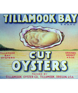Vintage Litho! Tillamook Bay Oysters Can Label, 1930s - $1.99
