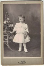 Cabinet Photo of Pretty Young Girl of 3 Years Old - Newark, NJ 1880s era - $9.04