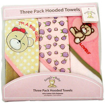 Snugly Baby 3 Pack Hooded Towels  Assorted Color - $11.04+