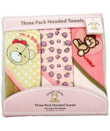 Snugly Baby 3 Pack Hooded Towels  Assorted Color - $12.99