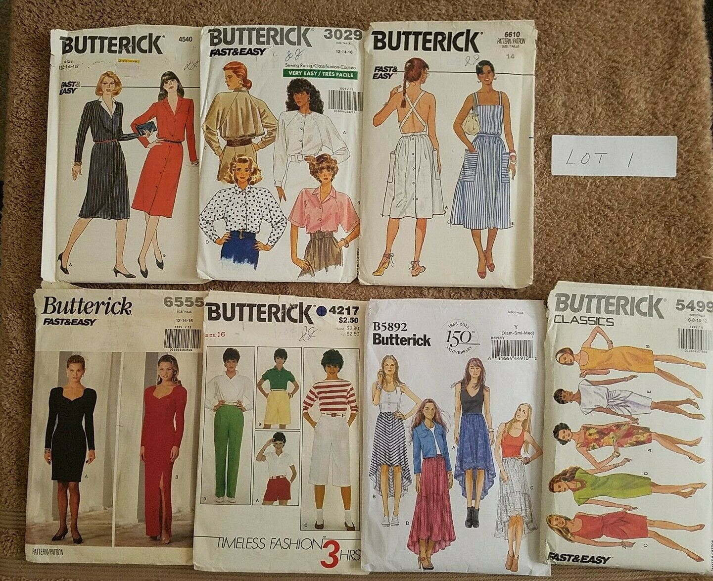 Primary image for Vintage Pattern Lots Men Women Children Crafts Butterick Simplicity Vogue Other