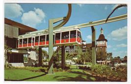 Monorail at Station Busch Gardens Tampa Florida postcard - $5.45