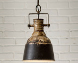Rustic Chipped Black Industrial Hanging Pendant Lamp - $82.41