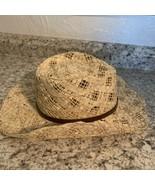 FILIPPO CATARZI ITALY Western Style Cowboy Hat Straw Is - $19.75