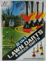 NEW Eastpoint Sports 2-In-1 Lawn Darts/Bocce Combo Carrying Case Summer Fun - $14.20