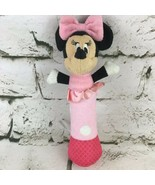 Disney Baby Minnie Mouse Plush Pink Chiming Rattle Soft Stuffed Crib Toy  - $9.89