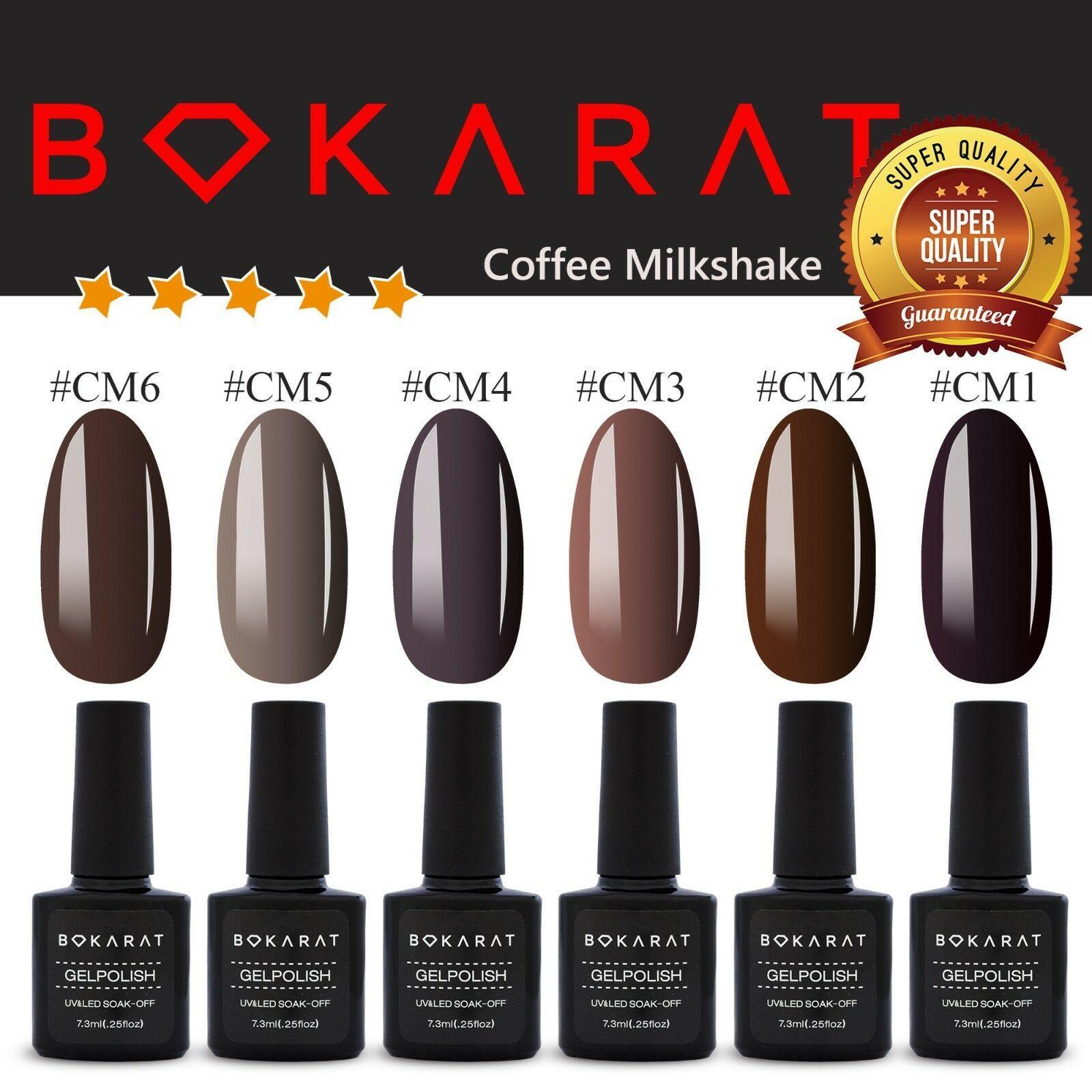 High Quality Gel Nail Polish ~Coffee Milkshake~ 7.3 ml Soak Off UV LED Bokarat