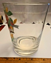 VINTAGE HAND PAINTED SCARLET TANAGER OLD FASHION GLASS West Virginia Glass Spec. image 2