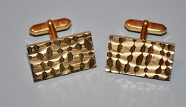 Vintage Gold Tone Cuff Links Rectangle Made in West Germany - $11.40