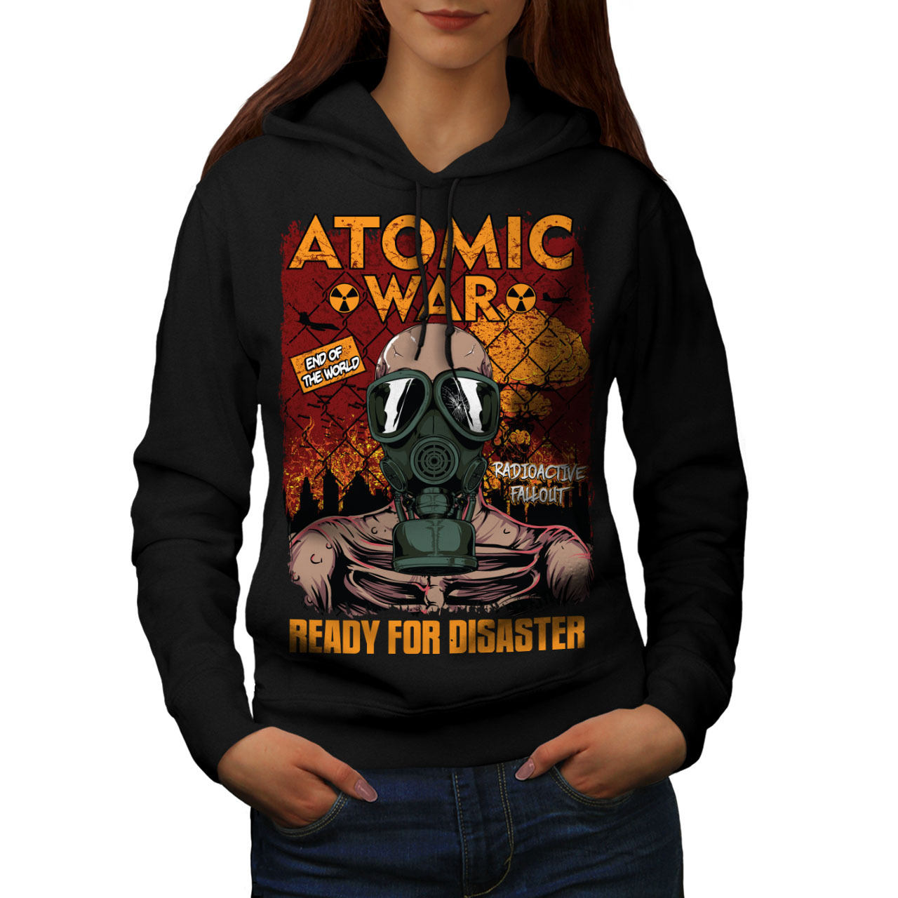 Primary image for Ready For Disaster Sweatshirt Hoody Atomic War Women Hoodie