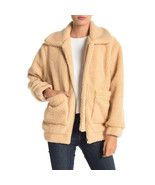 Elodie Faux Shearling Jacket, Taupe, Small - $49.49