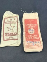 Lot Of 2 Vintage Chilled Lead Shot Bags: StarShot & Lawrence Both ** EMP... - $10.27