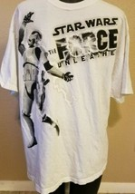 Star Wars The Force Unleashed White Tee Shirt Lucas Arts Stormtrooper Adult Lg. - $19.59