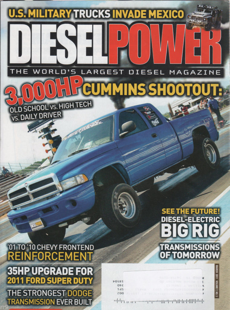 Primary image for Diesel Power Magazine MARCH 2011 The World's Largest Diesel Magazine