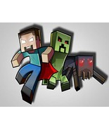 Minecraft Herobrine Creeper Spider Steve Edible Cake Topper Image ABPID0... - $9.99
