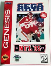 NFL 95 Pro Football Game Sega Genesis montana with manual complete - $9.49