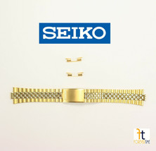 18mm SEIKO Men's Stainless Steel Gold Plated Wristwatch Band G1356.E - $89.95