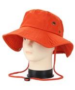 Orange Boonie Bucket Hat Cap Fishing Hunting Summer Men Sun 100% Cotton ... - $21.90