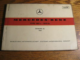 Mercedes-Benz Type 180 c Dc Parts Catalog Manual 1961 1962  W120 - $103.95
