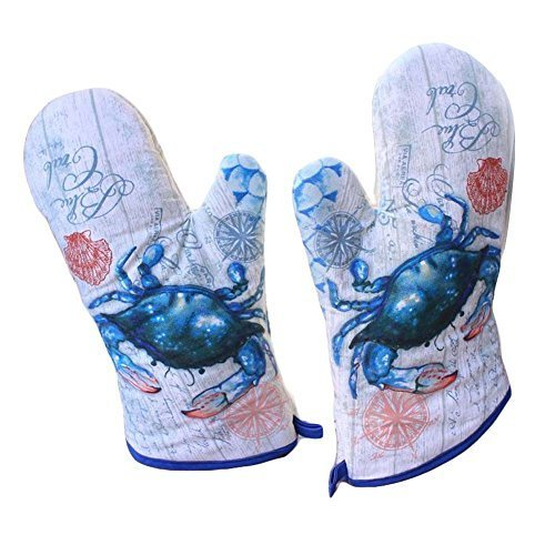 thick oven mitts crab heat insulation gloves and 50 similar items