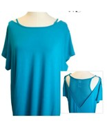 Champion Womens Fitness Athletic Turquoise Mesh Back Loose Tunic Top Sz ... - $14.78