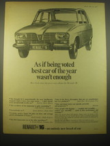 1966 Renault 16 Car Ad - As if being voted best car of the year wasn't e... - $14.99