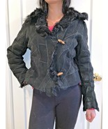 Kryos Paris Black Shearling Jacket size 42 USA size 4 euc - $49.49