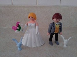 PLAYMOBIL PEOPLE BRIDE AND GROOM COUPLE SET COMPLETE #5163 - $9.90