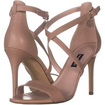 Nine West Mydebut Dress Heel Sandals 597, Light Natural Leather, 8.5 US - $28.79
