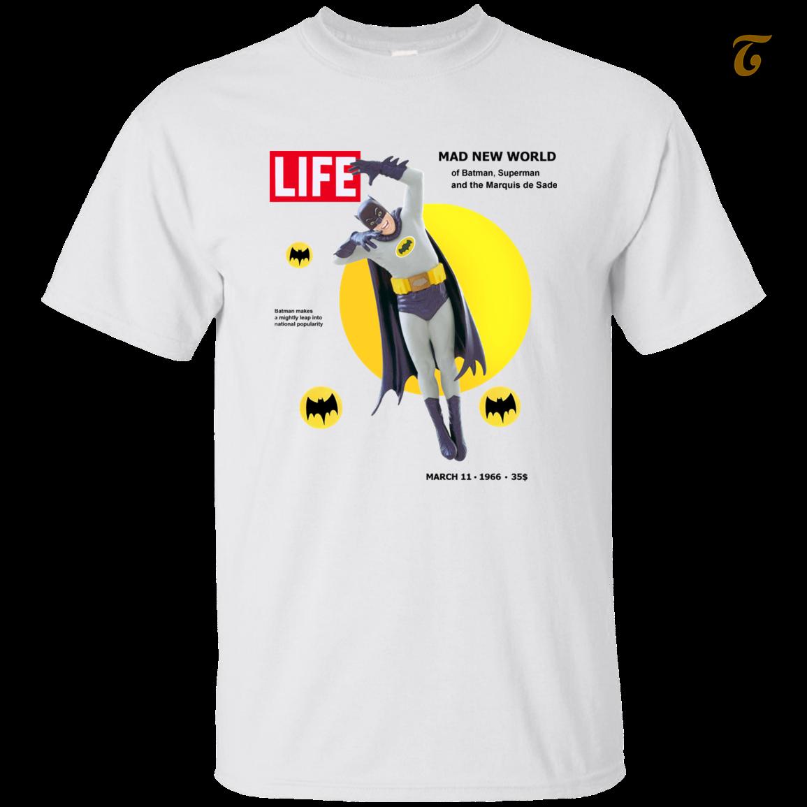 Batman  life magazine  men s t shirt   white