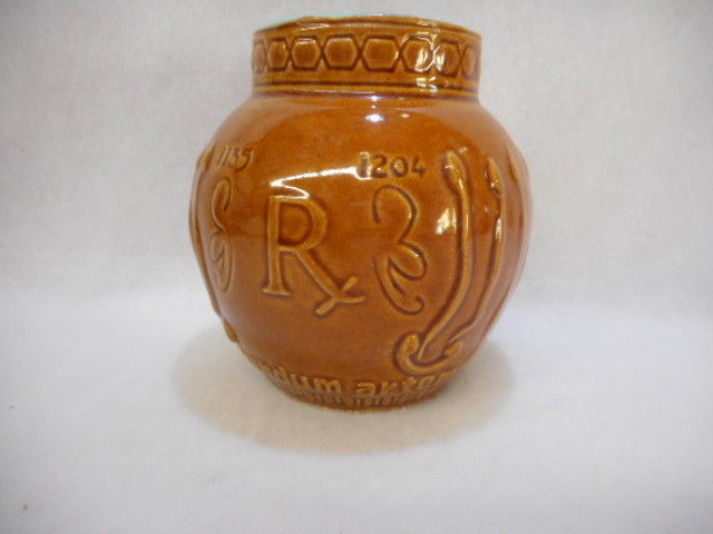 Vintage Schering Maimonides Secundum Artem 1135-1204 Mortar RX Brown Jar Glazed