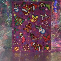 Vintage Lisa Frank Complete Sticker Sheet Christmas Holiday Theme S132 Early 90s