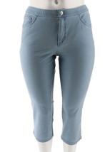 Denim & Co Petite How Comfy 5-Pocket 3 Crop Jeans Bleach 18WP NEW A264213 - $22.75