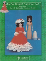 Miss Elena, Td Creations Crochet Doll Clothes Pattern Booklet FRA-809 - $2.95