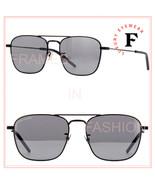 SAINT LAURENT YSL SL309 005 Black Silver Unisex Aviator Sunglasses 56mm 309 - $229.43