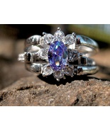 Haunted Genie/Angel Combination Flip Ring Sterling mystic topaz and Tanz... - $377.77