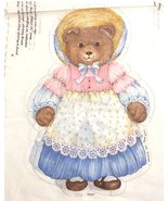 Story Book Bear Fabric Panel VICTORIA Cut & Sew 17 X 44 Inches Cotton - $10.99