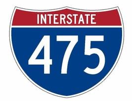 Interstate 475 Sticker R2072 Highway Sign Road Sign - $1.45+