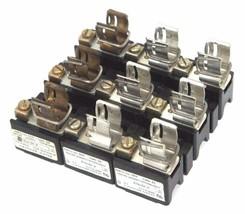 LOT OF 3 ALLEN BRADLEY X-401978 FUSE BLOCKS 30AMP, 600 VOLT MAX, X401978