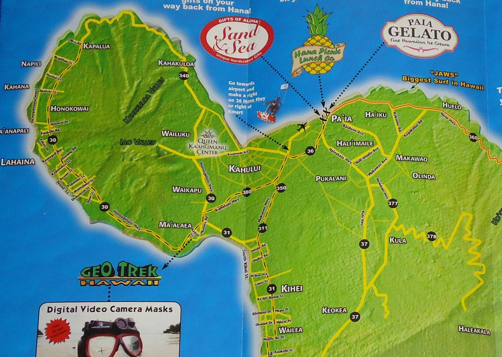 Informative Road To Hana Souvenir Map Maui and 50 similar items on waikiki map, lahaina map, molokai map, reno map, puerto rico map, oahu map, kapalua map, miami map, lihue map, makawao map, kaanapali map, kihei map, hawaii map, pearl harbor map, kauai map, big island map, honolulu map, hawaiian islands map, lanai map, florida map,