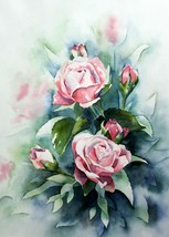 Password Book Water Color Rose - $11.00