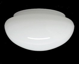 Pan Ceiling Light Shade White Cased Glass 5 3/4 X 3 3/4 X 7 Fan Flush Mount - $11.95