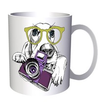 Dog with Photo Camera and Spectacles 11oz Mug x909 - $203,52 MXN